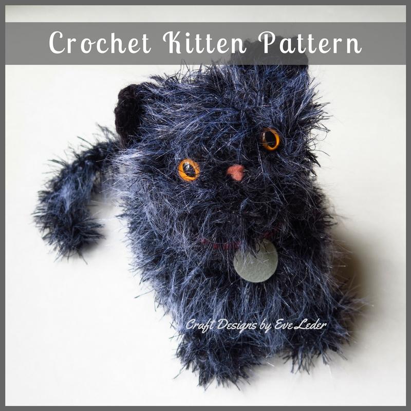 Crochet Kitten Pattern Craft Designs By Eve Leder