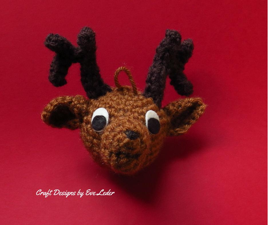 Crochet Reindeer Ornament Craft Designs By Eve Leder