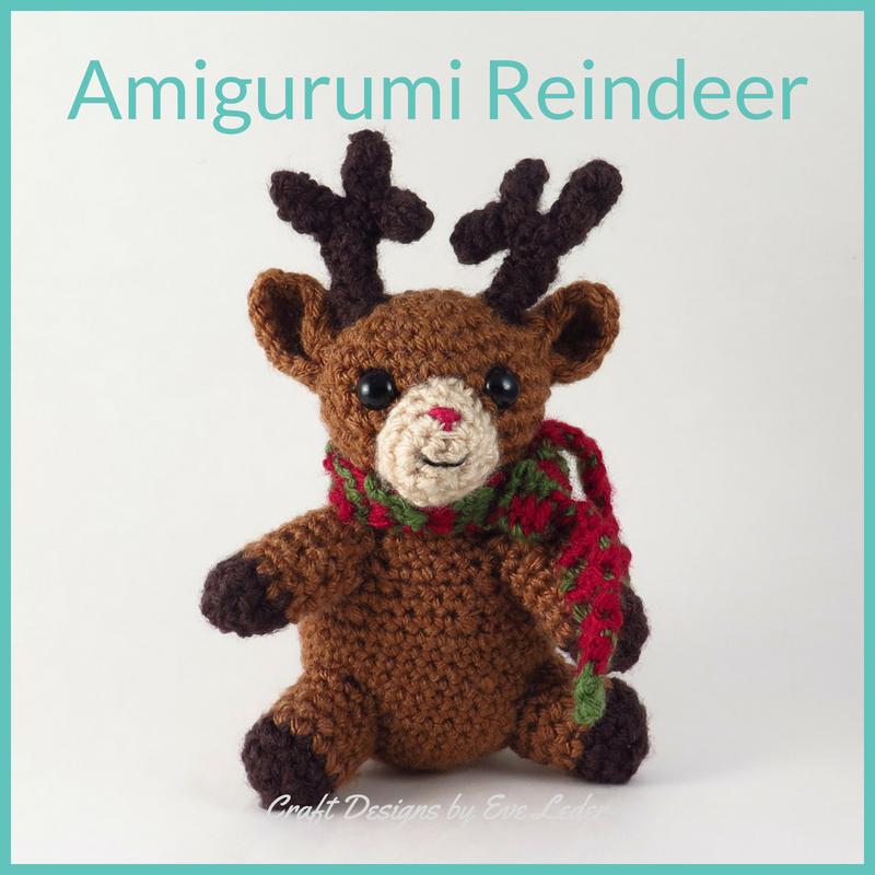 Amigurumi Reindeer Pattern — Craft Designs by Eve Leder
